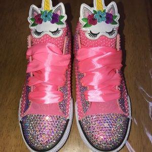 Other - Unicorn bling girls shoes